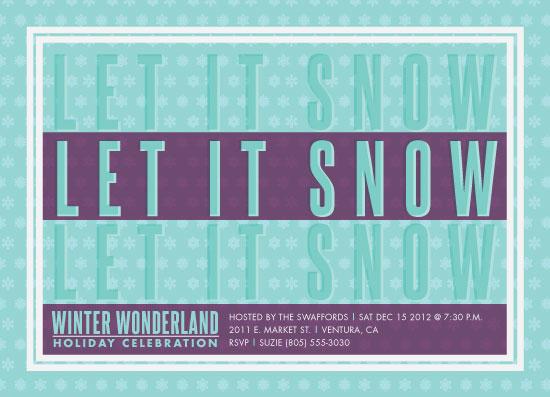 party invitations - Winter Wonder by Annette Allen