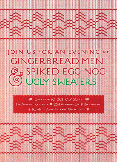party invitations - Happy Ugly Sweater Party by Rachel Beyerlein