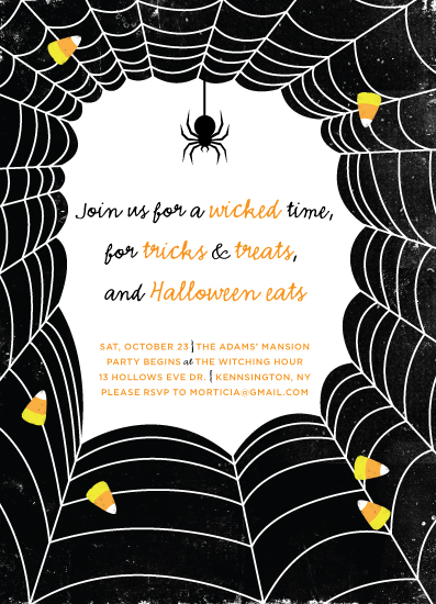 party invitations - Spiderweb Halloween by Rachel Beyerlein