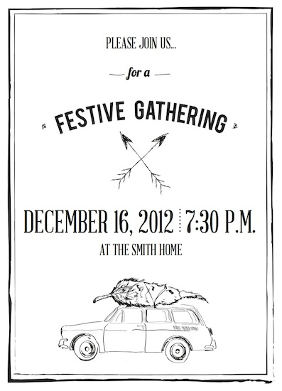 party invitations - Campy Holiday by Samantha Kachel