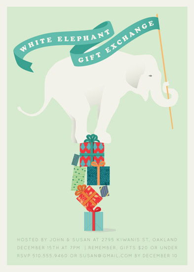 party invitations - The White Elephant by Kellie McCool