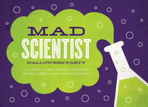 party invitations mad scientist at Minted – Mad Scientist Birthday Party Invitations