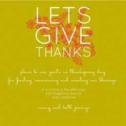 """Let's Give Thanks"""