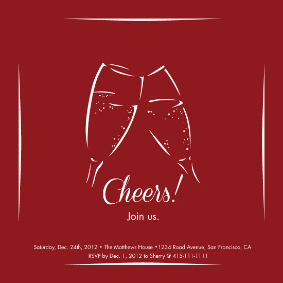 party invitations - Simple Cheers by Sherry Lam