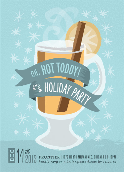 party invitations - Oh, Hot Toddy! by Bleu Collar Paperie
