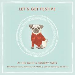 Let's Get Festive Pug