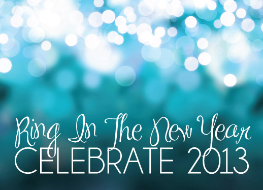 party invitations - Sparkle in the New Year by Barbara Lundberg