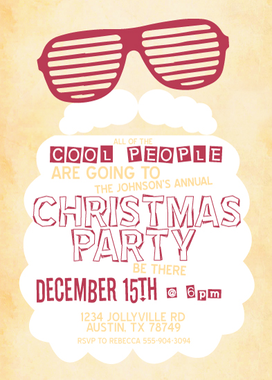 party invitations - Cool Santa at Minted.com