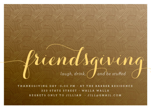 party invitations - friendsgiving