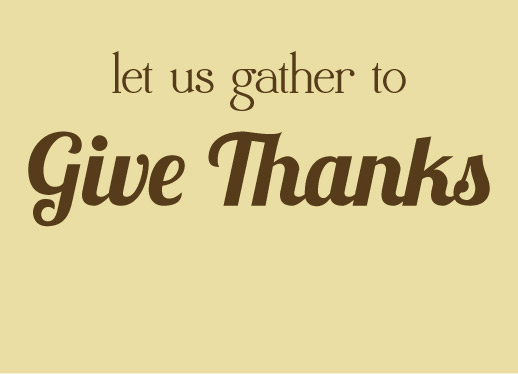 party invitations - Gather to give thanks by Barbara Lundberg