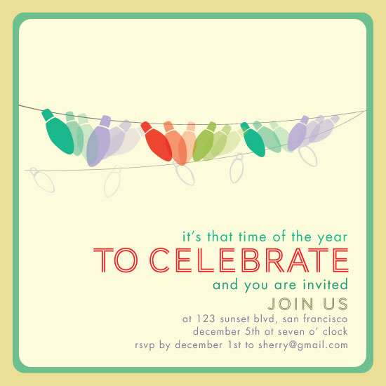 party invitations - Colorful Lightness by Sherry Lam
