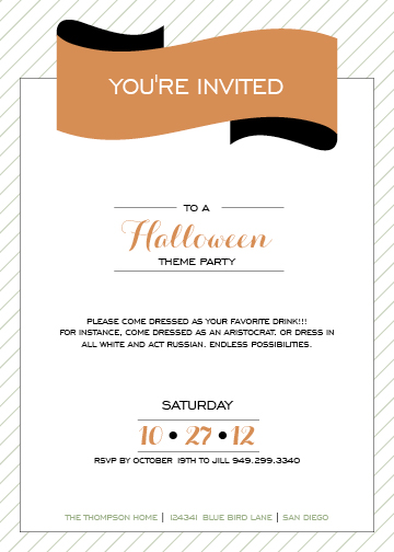 party invitations - Dress As Your Drink by Maui N Cupcake