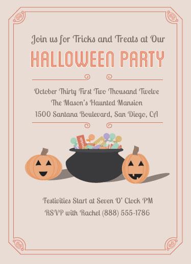 party invitations - Tricks & Treats by Michelle Calderon