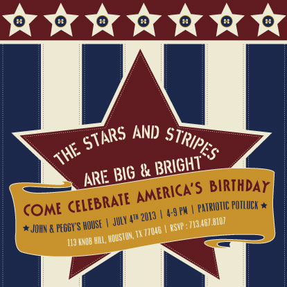 party invitations - Stars and Stripes by 5Ns