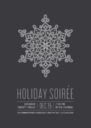 party invitations - snowflake soirée by Guess What Design Studio