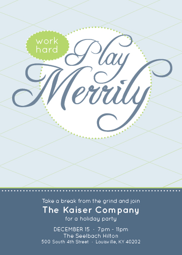 party invitations - Play Merrily by Mandy Mullins