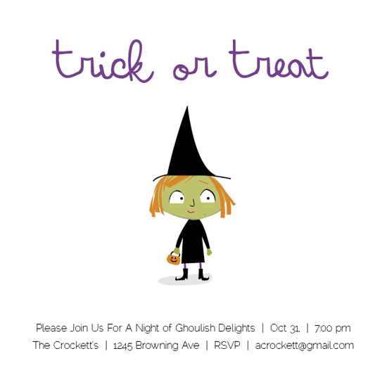 party invitations - Simple Witch by Aly Crockett