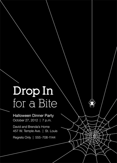party invitations - Drop In for a Bite by Tanya Pedersen