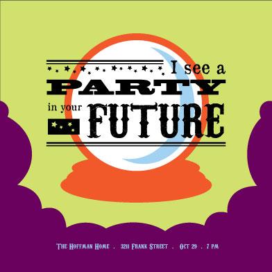 party invitations - Futurecrystalball by Blushing Princess