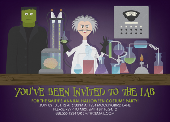 party invitations - Frankie's Laboratory by We Say Things