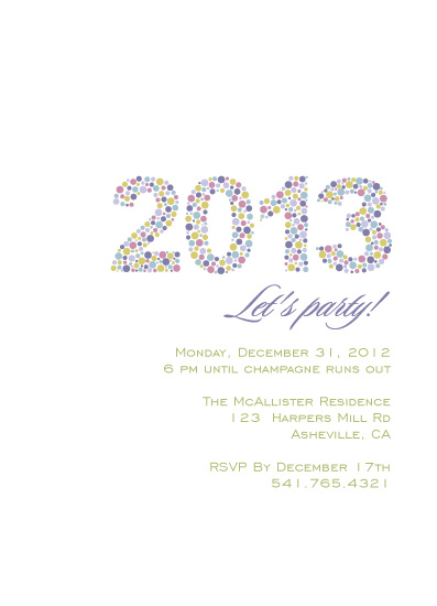 party invitations - Dotted Year by A. Dolan