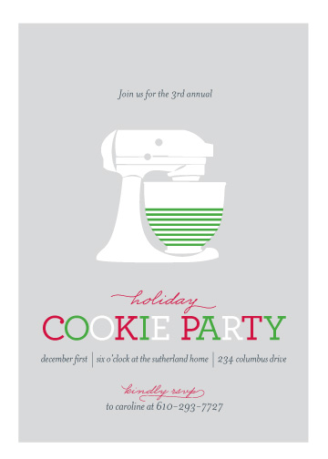party invitations - Annual Cookie Party by Abby Munn
