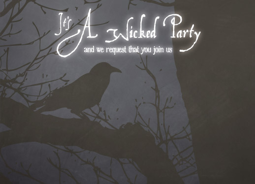 party invitations - Wicked Halloween by Barbara Lundberg