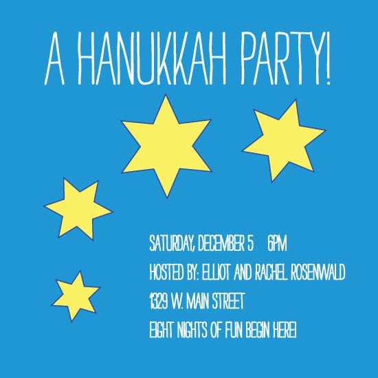 party invitations - Hanukkah Joy by Rachel Wiandt