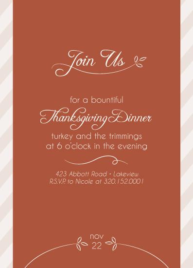 party invitations - Seasonal Stripes by Amanda Olson