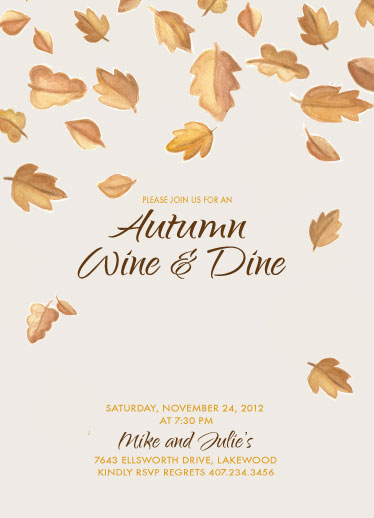 party invitations - Wine and Dine by Wendy McClure