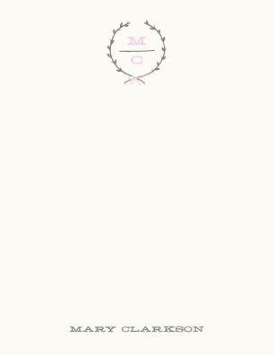 personal stationery - Delicate Laurel by Amber Barkley
