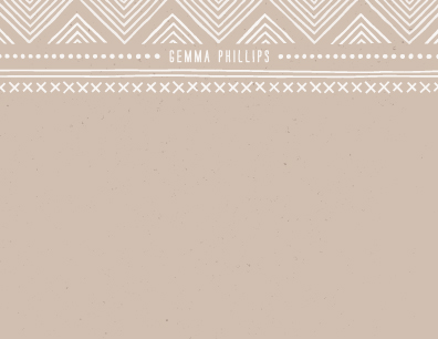personal stationery - Indio by Amber Barkley