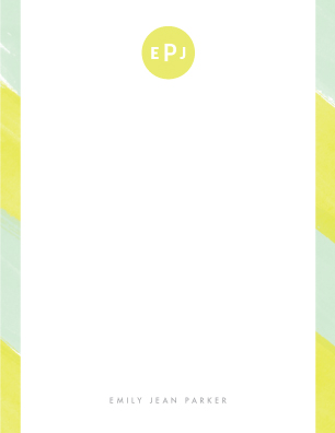 personal stationery - Lemondrop by Stacey Meacham