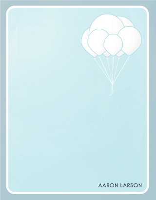 personal stationery - In The Sky by Katie Verhulst