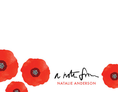 personal stationery - Poppy Talk by Anna Elder