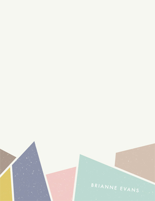 personal stationery - Facets by Amber Barkley