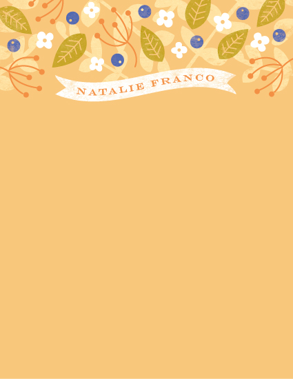 personal stationery - Sunny Floral by Sarah Curry