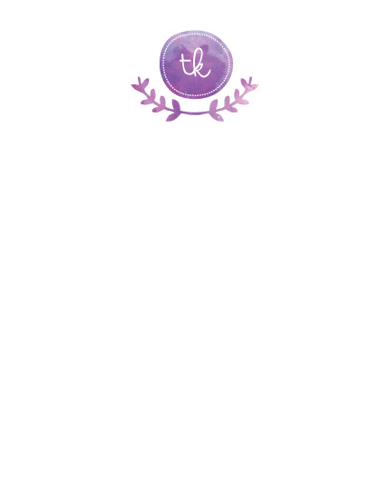 personal stationery - Vine Monogram by Bonjour Berry