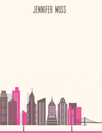 personal stationery - Cityscape by Sharise Williams