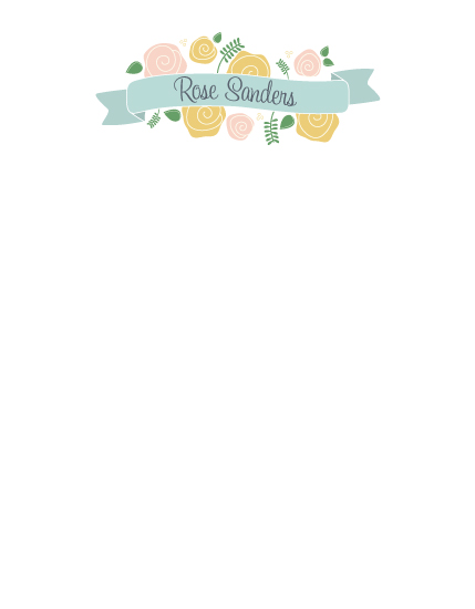 personal stationery - Roses and Ribbon by Tickled Peach Studio