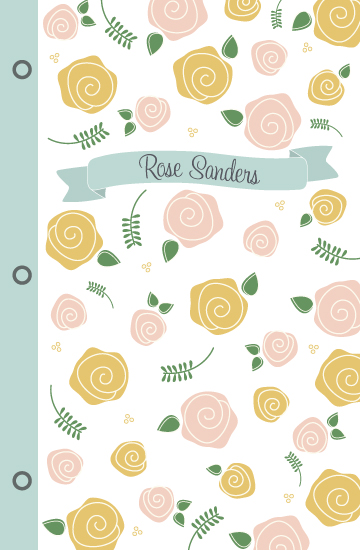 journals - Roses and Ribbon by Tickled Peach Studio