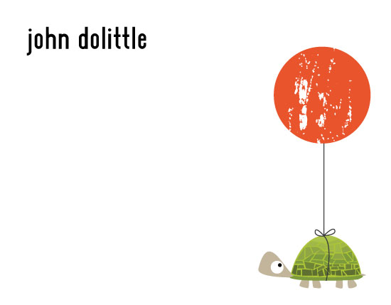 personal stationery - Turtle Balloon Flight by Kelsey Clanton