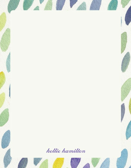 personal stationery - Painted Leaves by 2birdstone