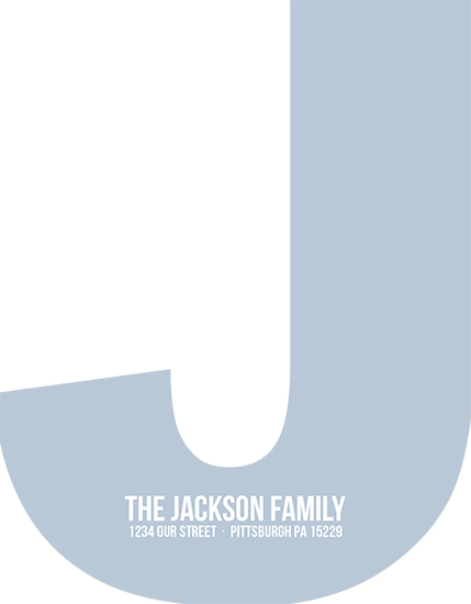 personal stationery - Big Initial by EKJ designs