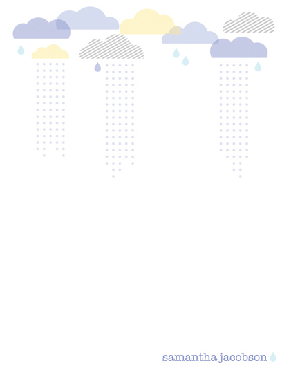 personal stationery - Rain Clouds by Anne Was Here