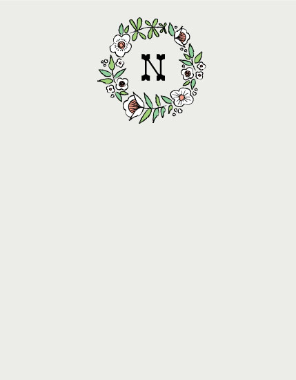 personal stationery - Natalie Floral by 2birdstone