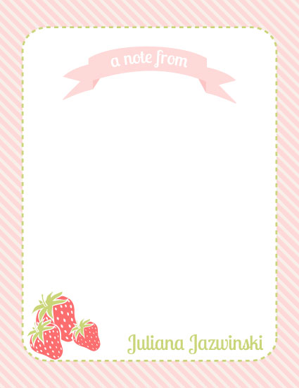 personal stationery - berry sweet notes by elle and bean