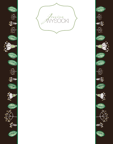 personal stationery - Whimsical Nature Floral Friend by fox bear designs