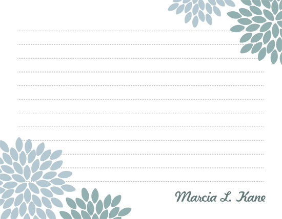 personal stationery - chrysanthemums by EKJ designs