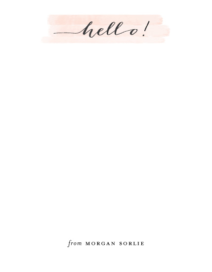 personal stationery - Happy Hello by Susan Brown